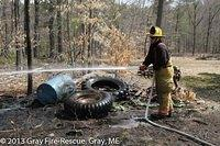 Lake Grove Springs- Grass Fire- April 22, 2013