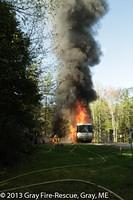 Motor Home fire on Ramsdell Rd, May 13, 2013