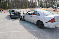 Mock Car Crash - Texting While Driving